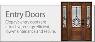 Clopay Entry Doors are attractive, energy efficient and secure.